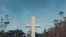 cross against a blue sky