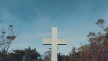 cross against a blue sky