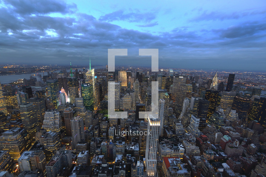 New York City sky scrapers