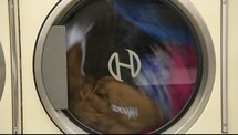 clothes spinning in a washing machine