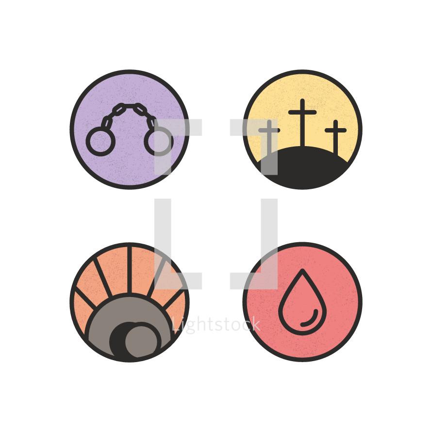 Easter badges