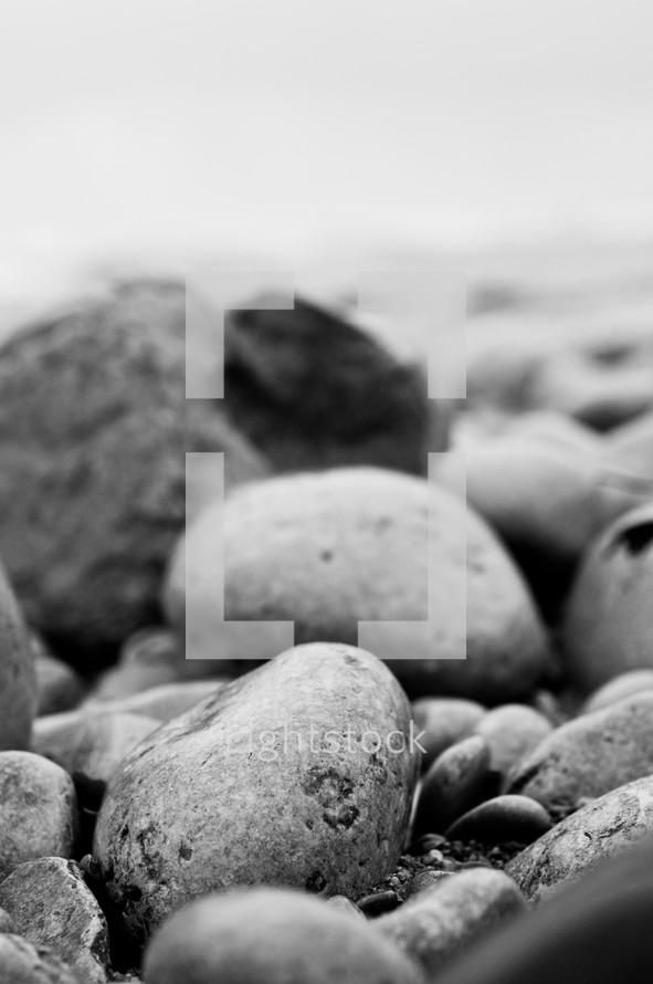 rocks and peebles