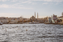 Mosque across the water in Turkey