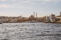 Mosque across the water in Turkey
