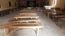 benches inside an empty church