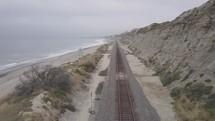 train tracks and beach