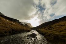 a mountain river