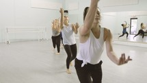 women at a dance class