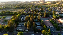 Aerial View Over Homes in Vacaville, California