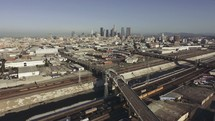 Aerial view over Los Angeles | LA | Cars | Overhead Shot | Pan Shot | Track Shot | Urban | World | Evangelism | Community