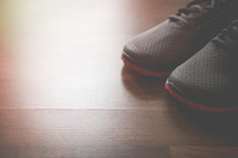 Gym Shoes Background with Copy Space