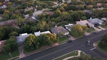 areal view over a neighborhood