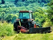 Tractor plowing a field.