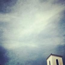 Blue sky and steeple