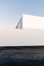 exterior wall of a white building