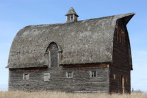 an old weathered barn