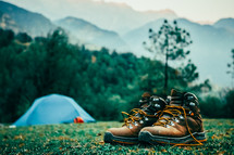 boots and tent