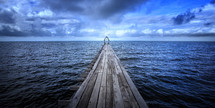 looking down a dock