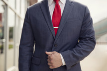 torso of a businessman