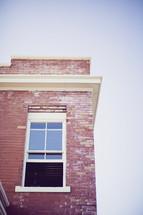 corner window on a brick building