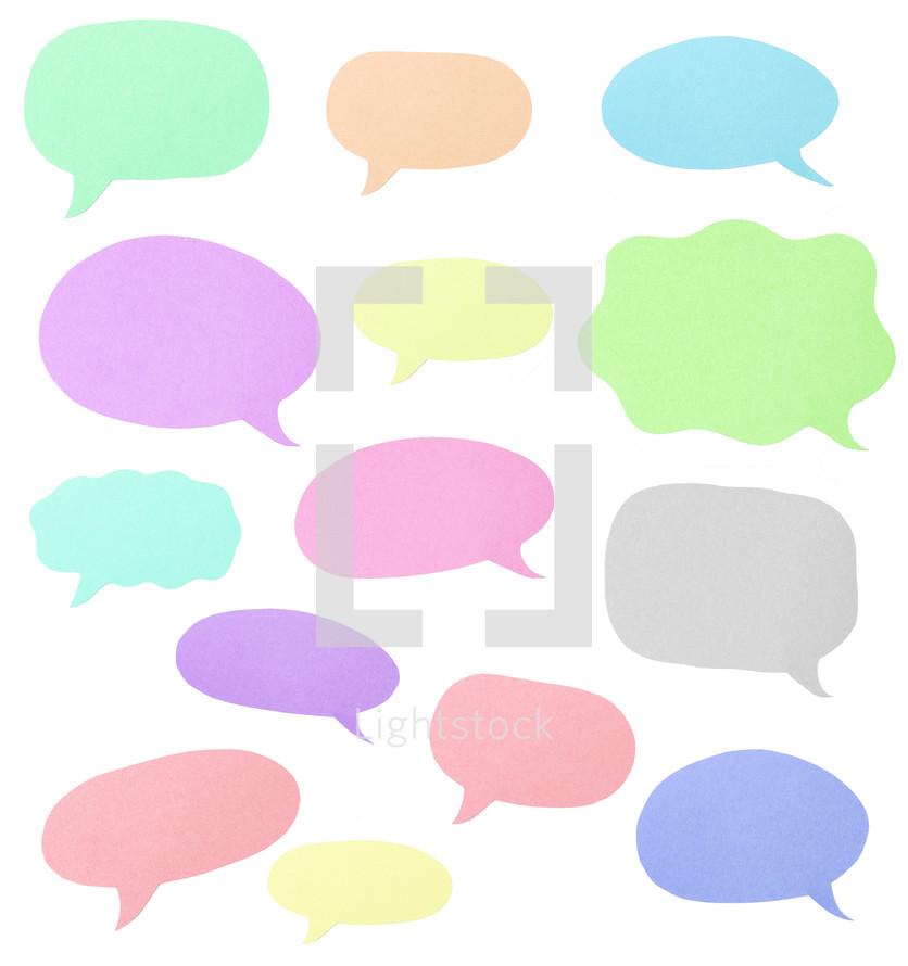 empty speech bubbles