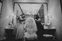 Bride preparing for her wedding day