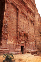 City of Petra carved out of red rock