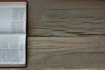 a Bible opened to Luke