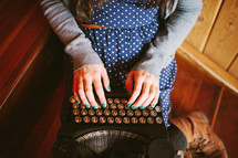 fingers on a type writer