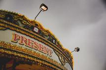 lights on a carousel