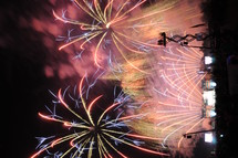 Fireworks at outdoor event