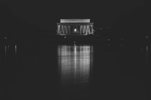 Lincoln Memorial at night