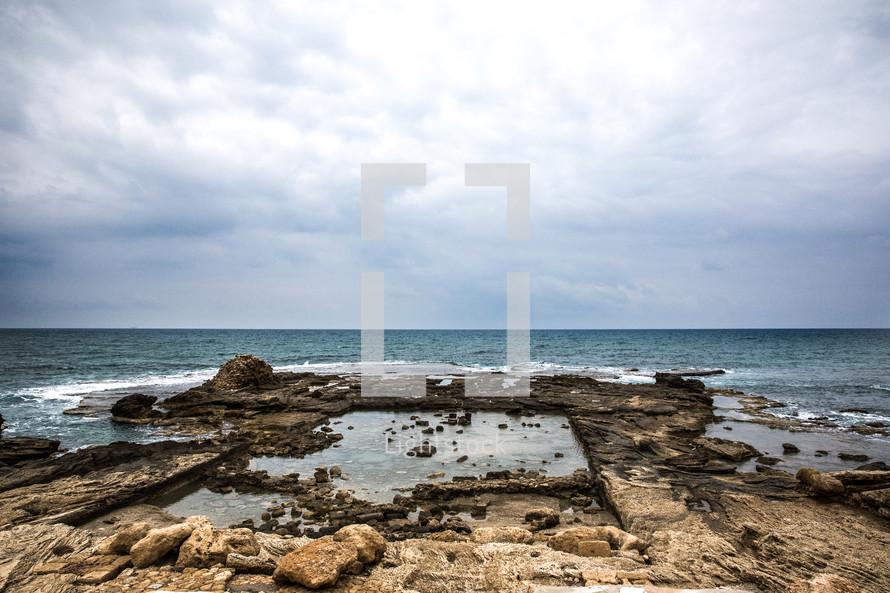 tide pool in Israel shore