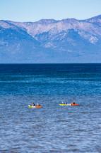 Kayaks on Lake Tahoe, California