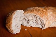Broken bread.