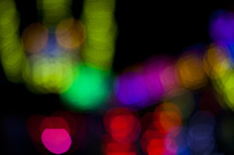 Colorful blurred lights.