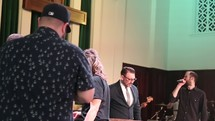 baptism during a worship service