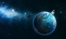 Earth Christmas bulb