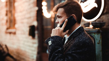 businessman talking on a cellphone