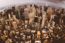 New York city in a bubble - snow globe effect