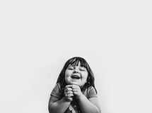 An excited little girl