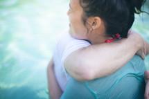 hug after a baptism