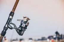 reel of a fishing pole