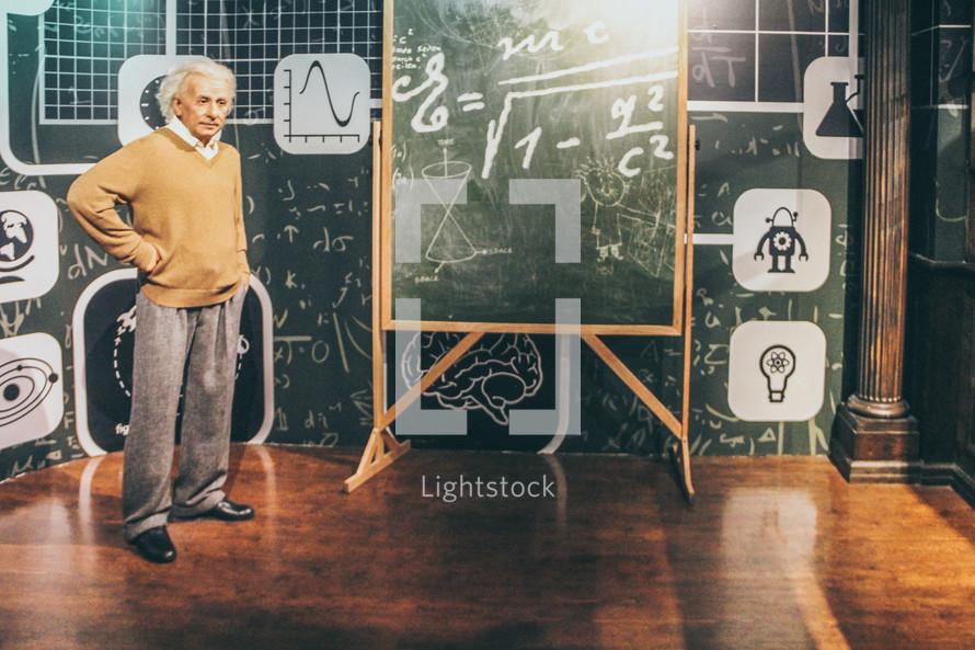 painting of Albert Einstein