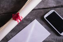 scroll, envelope, iPhone
