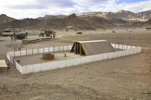 Model of the Tabernacle, Holy of Holiest located in Israel