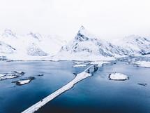 bridge across a winter waterway