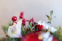 Christmas floral display