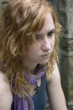 angry teen girl