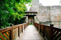 railing along a walkway
